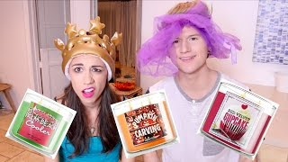 CANDLE SMELLING CHALLENGE w/ Ricky Dillon