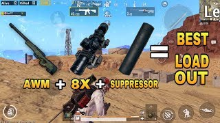 SILENCED AWM + 8X SCOPE = BEST LOADOUT IN PUBG MOBILE || 18 KILLS SOLO VS SQUADS