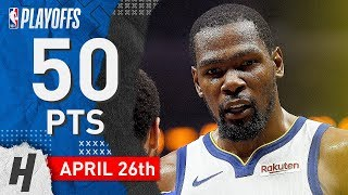 Kevin Durant Full Game 6 Highlights vs Clippers 2019 NBA Playoffs - 50 Points, BEAST!