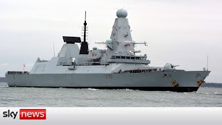 Russian forces 'drop bombs' in path of Royal Navy