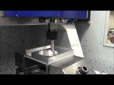Frästest Mineralgussmaschine FS4MG