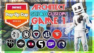 Architect Pop-Up 🥊Squad Customs🥊 Game 1 (Fortnite)