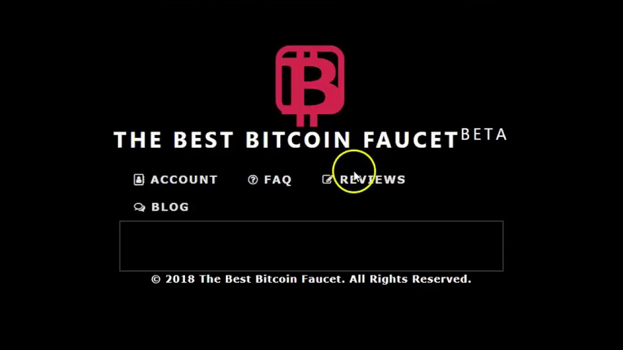 THE BEST BITCOIN FAUCET BETA - YouTube