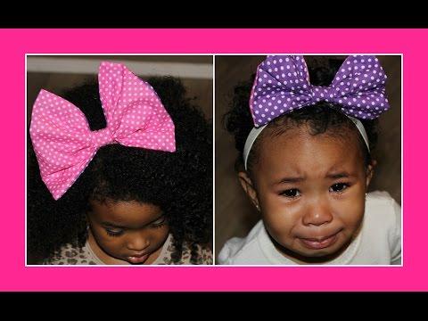 DIY Big Hair Bow | Curly Hair Accessories