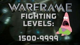 warframe   fighting level 1500 9999 enemies on orokin derelict sabotage