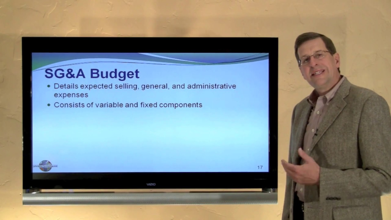 21 - The Various Components of a Master Budget - YouTube