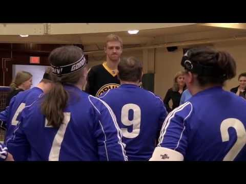 Boston Bruins Visit Perkins School for the Blind