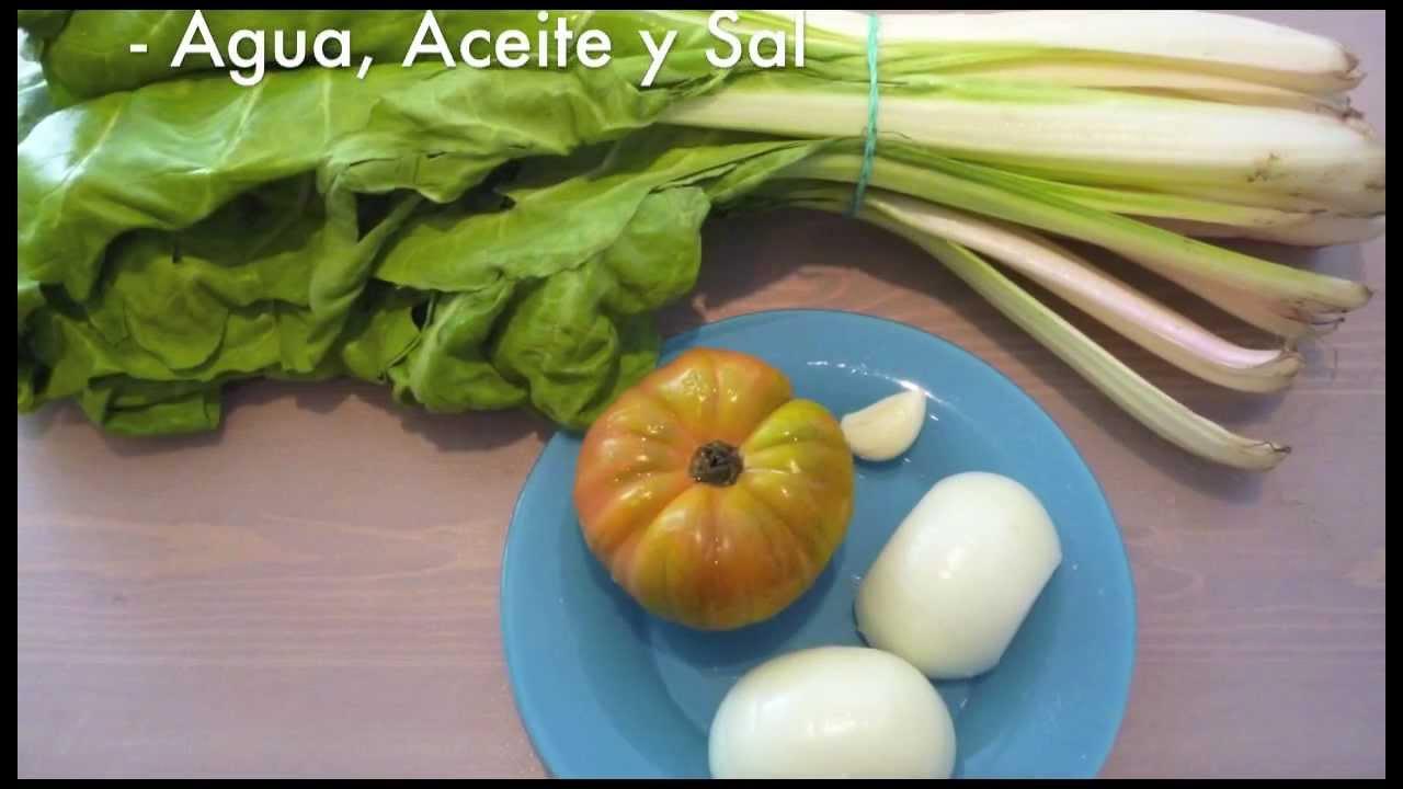 Como Cocinar Acelgas   Acelgas Hervidas Recetas Ligeras Youtube