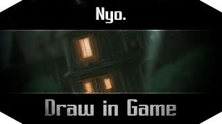 Draw in Game - Batman Arkham Asylum - Le chevalier noir observe Arkham