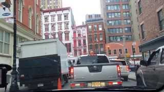 Driving into Manhattan NYC from New Jersey NJ  Holland Tunnel