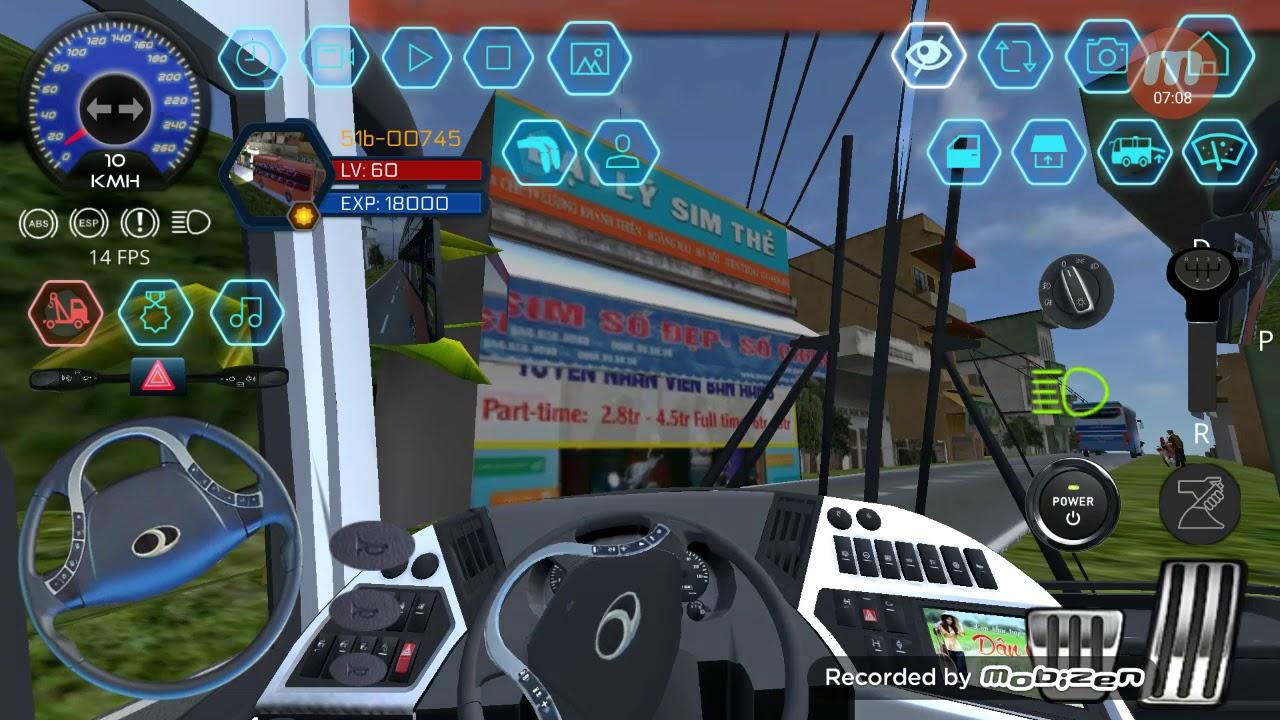 Game bus simulator vietnam trải nghiệm xe Phương Trang về bến