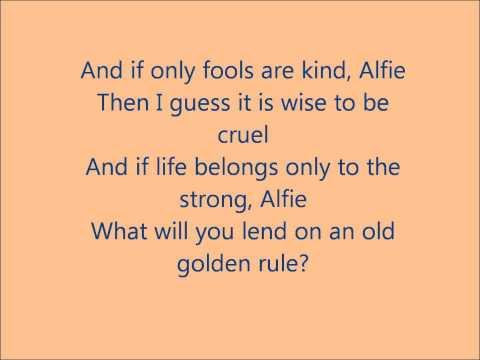 Glee - Alfie - Lyrics