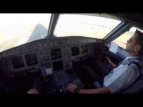 Djibouti HDAM Cockpit view Landing rwy 09 on 11 Apr 2015