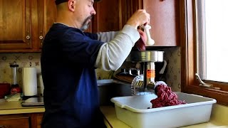 Grinding Venison With The Weston Pro Series #12 Electric Meat Grinder
