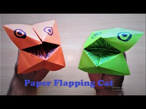 How to Make Super Easy Paper Flapping Cat Origami - Paper Cat