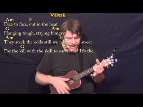 Eye of the Tiger (Survivor) Ukulele Cover Lesson in Am with Chords/Lyrics