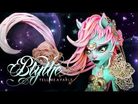 Doll Figurine Repaint BLYTHE Centaur | Fantasy Fairy Tale Creature | Monster High OOAK  Repaint
