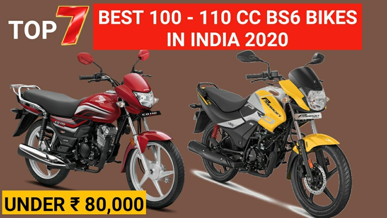 TOP 7 BEST 100cc - 110cc BS6 BIKES IN INDIA 2020 | Under Rs. 80,000 | Mileage | On Road | minute