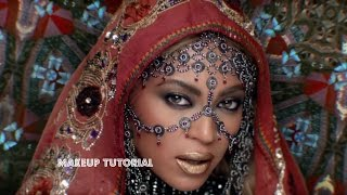 BEYONCE Inspired - Hymn For The Weekend Makeup Tutorial | GulsArtistry
