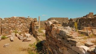 Ancient House Ruins In Delos, Greece Stock Video