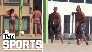 Jordan Clarkson and Andre Roberson Play Volleyball with Hot Girls in Thong Bikinis | TMZ Sports