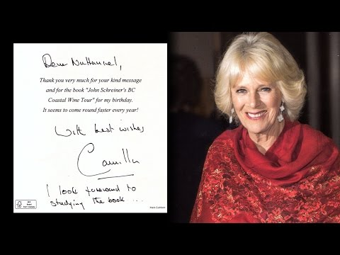 I got a handwritten note from HRH the Duchess of Cornwall... again!