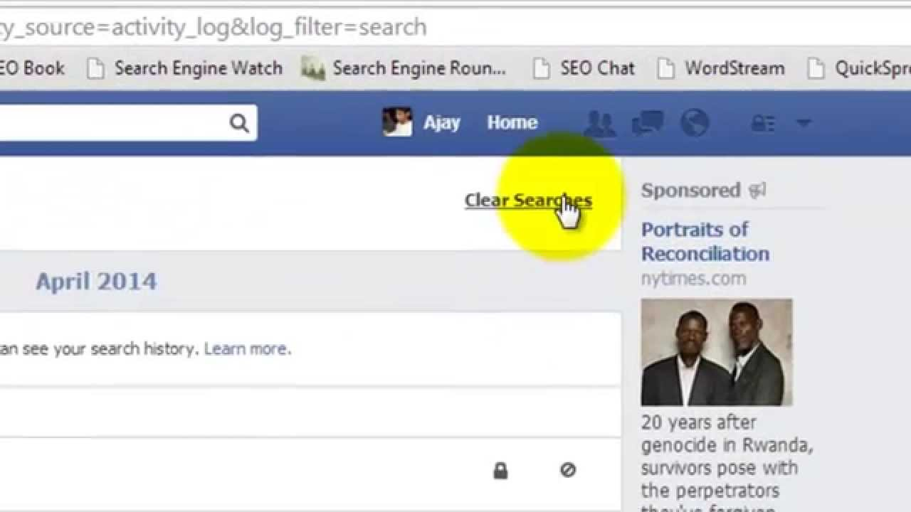 How To View Or Delete Facebook Search History