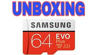 Unboxing NEW 2017 EDITION Samsung evo plus 64 gb memory card