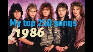 My top 250 of 1986 songs