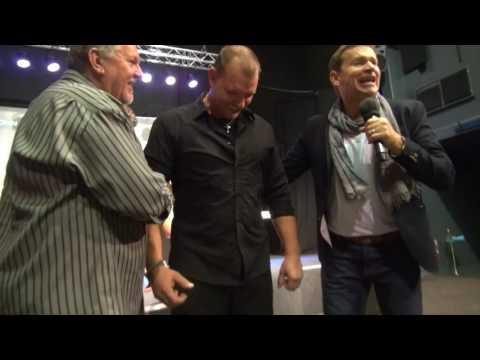 Painful spine healed & man dances - John Mellor Healing Ministry