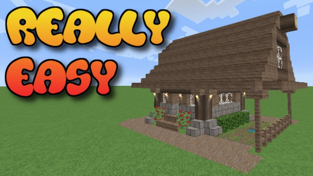 Minecraft How To Build A House Simple Cottage Tutorial Youtube