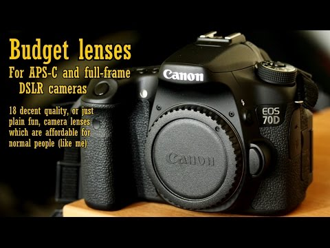 18 Awesome Low-Budget Camera Lenses! (for Canon, full-frame, and APS ...
