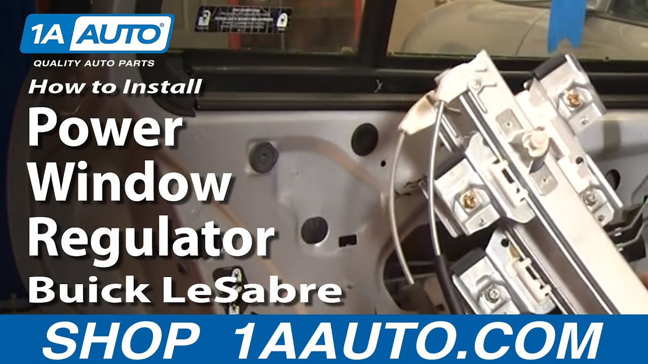 How To Install Replace Rear Power Window Regulator Buick