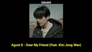 Baixar (BTS SUGA) Agust D - Dear My Friend (Feat. Kim Jong Wan) | (Tradução/ legendado)