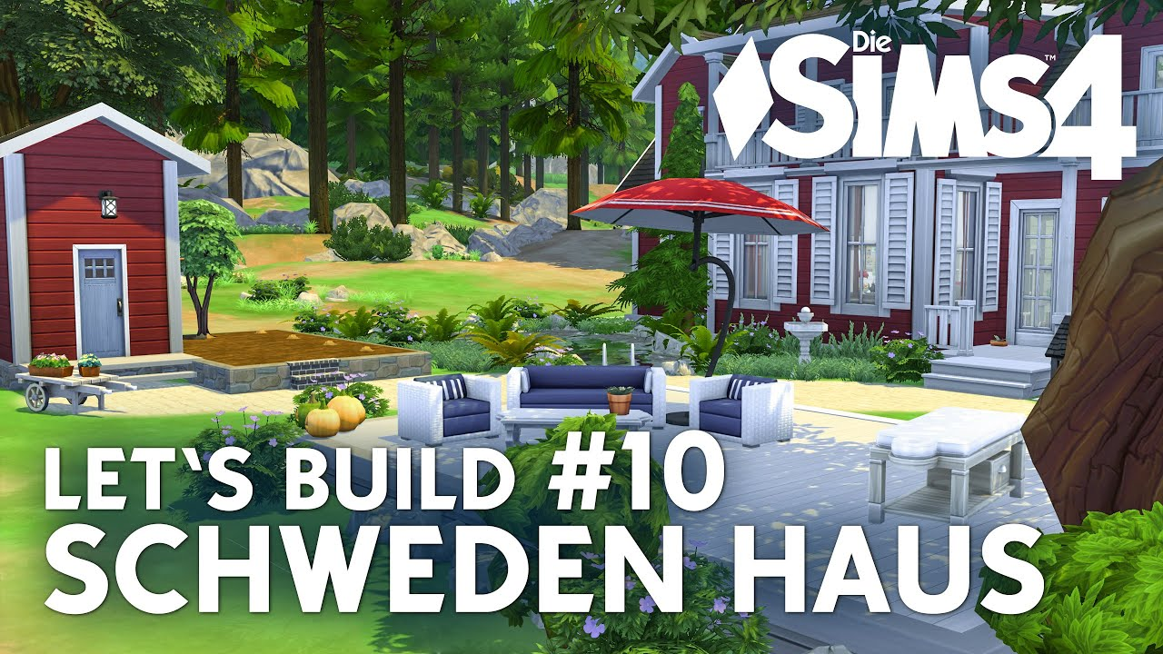 die sims 4 let 39 s build schweden haus 10 garten mit sauna bauen youtube. Black Bedroom Furniture Sets. Home Design Ideas
