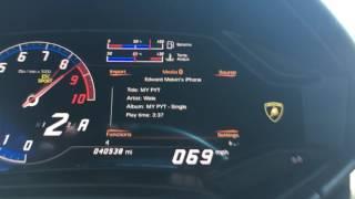 0-60 0-100 acceleration in 2015 Lamborghini Huracan.
