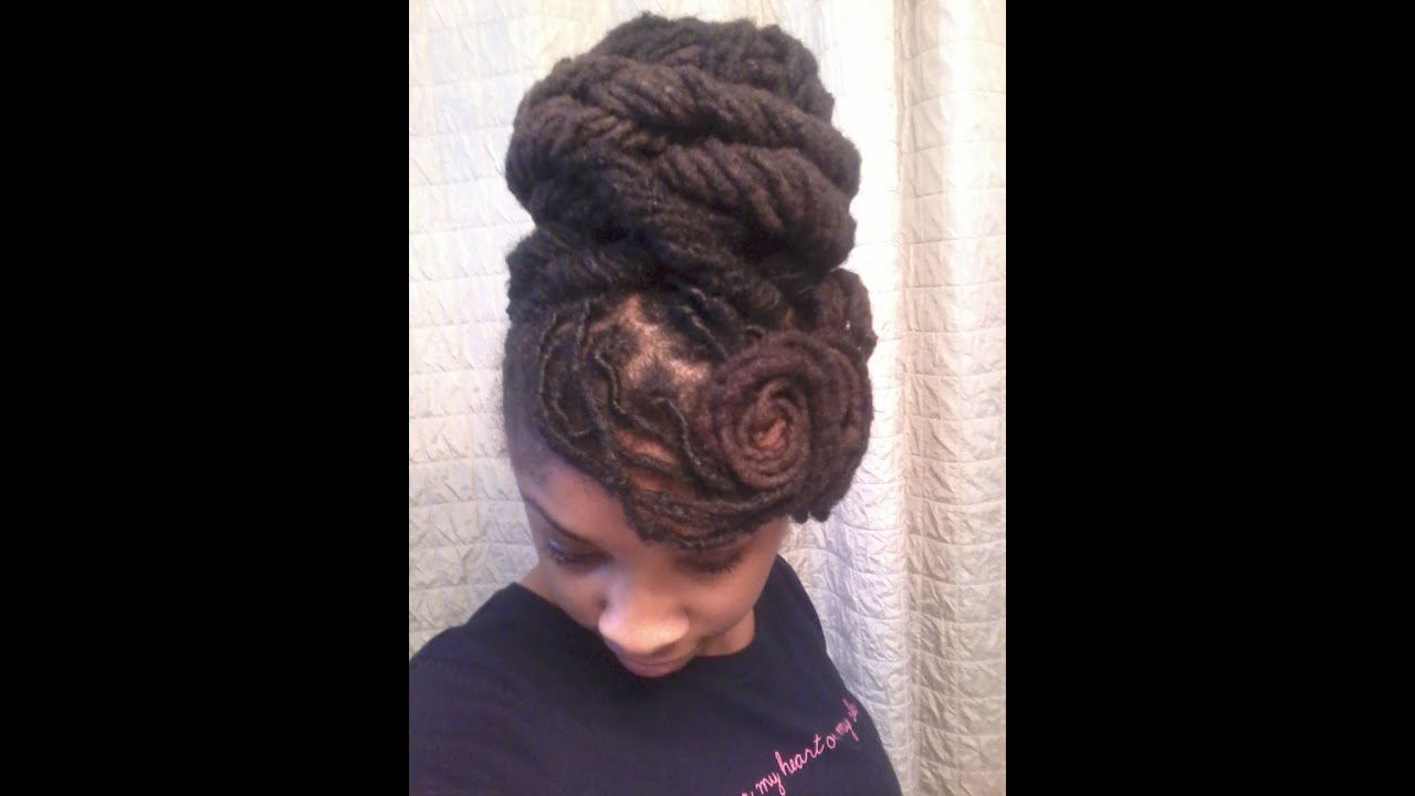 A Wedding Loc Updo Youtube