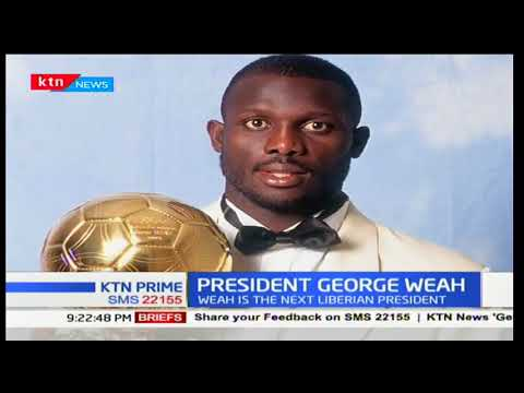 Former AC Milan striker George Weah wins presidential elections in Liberia