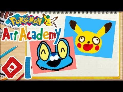 Pokémon Art Academy - 01 | Drawing Pikachu and Froakie!