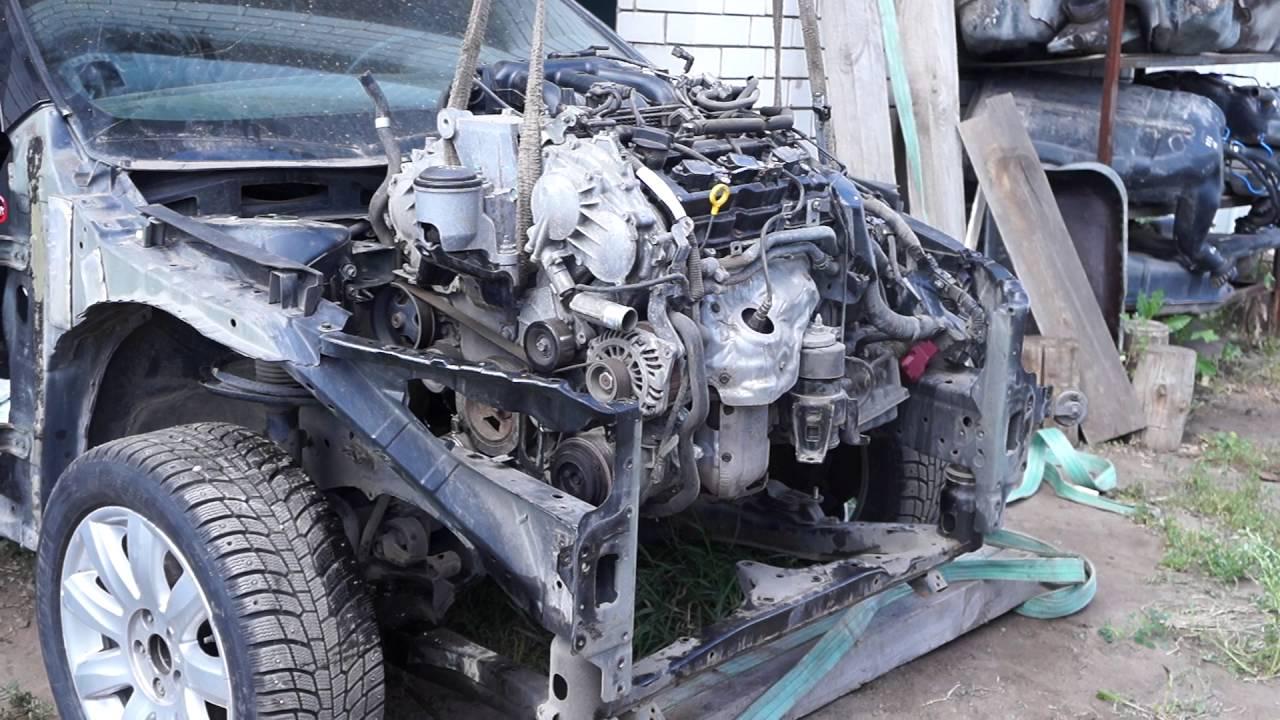 Снятие и установка двигателя мурано Ремонт бампера мерседес w211