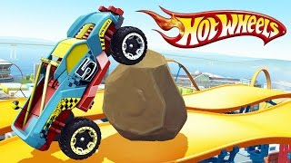 СУМАСШЕДШИЕ ГОНКИ ХОТ ВИЛС Мульт Игра для детей про машинки тачки Монстр Трак Hot Wheels