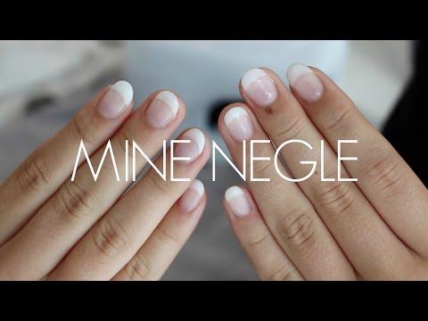 MINE NEGLE // sådan får jeg lavet franske negle