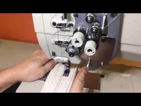 Двухигольная швейная машина с игольным продвижением и отключением одной из игл AURORA A-875
