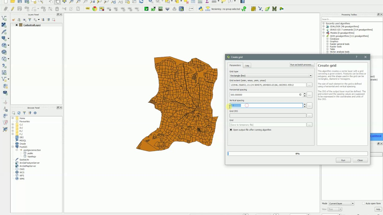 QGIS - Create Grid - Create Fishnet