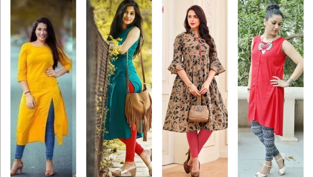 Latest Kurti Designs With Matching Leggings Latest Legging And Kurti Designs Youtube