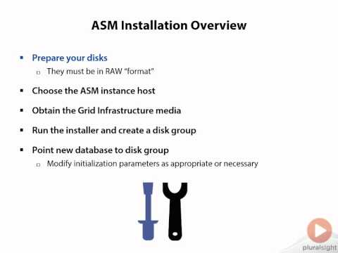 16 Installing Oracle Grid Infrastructure 12c ASM Installation Overview