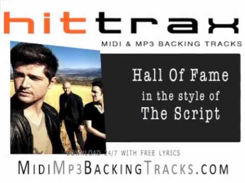 Hall Of Fame by The Script  MIDI File backing track