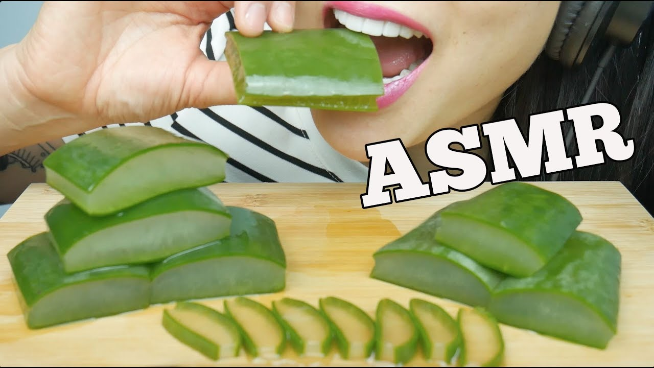 Asmr Aloe Vera Wild Berry Part 2 Relaxing Eating Sounds No Talking Sas Asmr