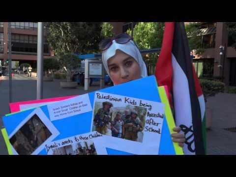 Israeli War Crimes Protest San Diego 2014
