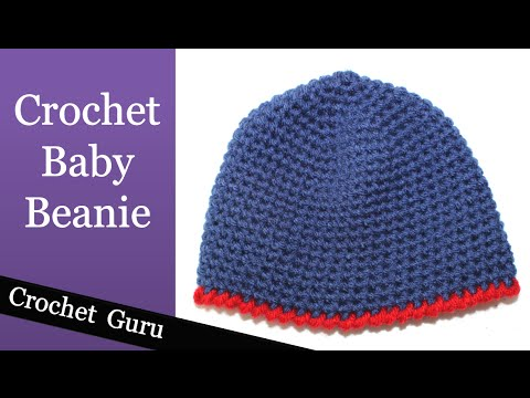 Easy Crochet Baby Beanie 0 3 Months Pattern Youtube